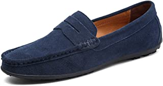 Men's Casual Suede Slip On Driving Moccasins Penny Loafers Flat Boat Shoes