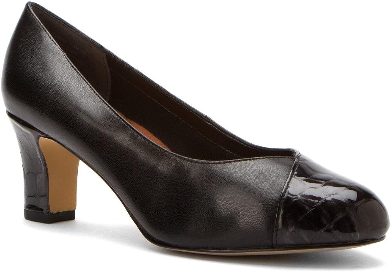 Ros Hommerson Women's Vallerie Black Kidskin Croc Patent heels 8.5 M