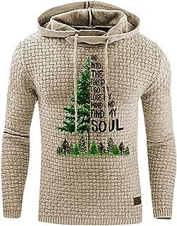 Mens Hoodie Sweatshirt Christmas Pullover Tops Jumper Outwear Slim Jacket