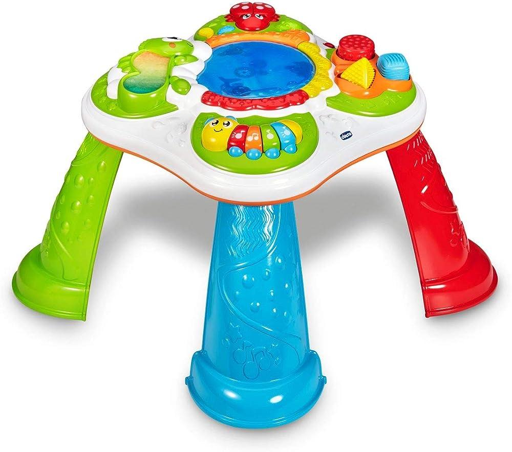 Chicco tavolo sensoriale per neonati e bambini, tavolino multiattività interattivo con 5 aree sensoriali 00010154000000
