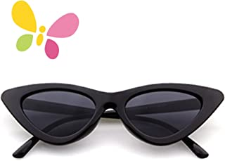FOURCHEN Retro Vintage Narrow Cat Eye Sunglasses for kids...