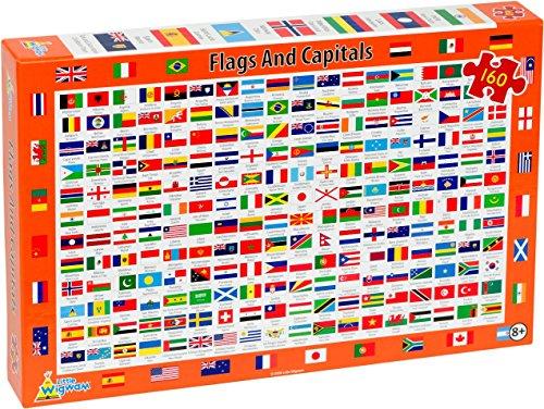 Little Wigwam - Puzzle Banderas y Capitales (160 Piezas)