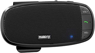 Nulaxy Car Bluetooth Speakerphone, Loud Speaker Bluetooth Hands Free Car Kit Supports Siri Google Assistant, Motion AUTO ON, 2 Phones Simultaneously, Wireless in Car Handsfree Speaker with Visor Clip