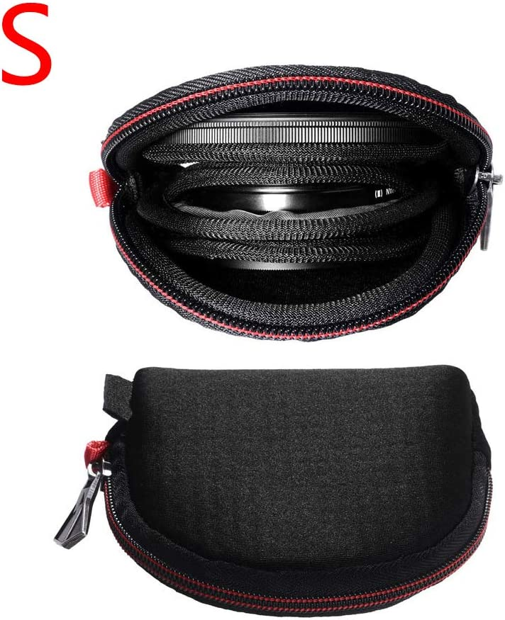 XHXseller Camera Filters Case Bags,Lens Filter Pouch Carrying Case for Round Filters and Square,Water-Resistant,Shockproof for Store Lens,Protective Lens