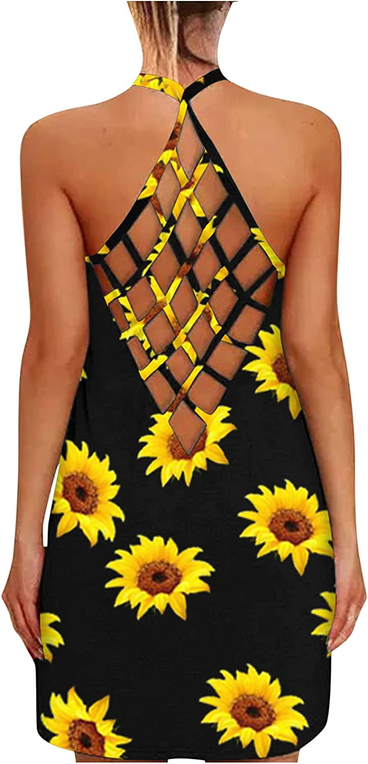 Sundresses for Women Summer Sexy Streetwea Cross Back Open Ranking Limited time cheap sale TOP4 Criss