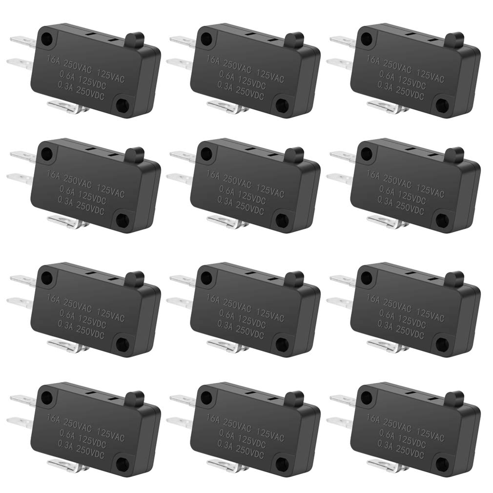 12PAack 125V 250V 16A Daily bargain sale SPDT Sale price Snap Switch Limit Micro Button Action