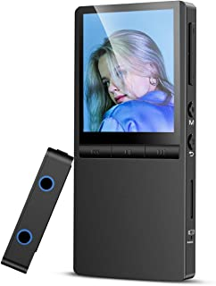 Metal MP3 Player with Bluetooth, Hommie 8GB HiFi Lossless Music Player Supports FM Radio Recording with HD Blu-Ray Screen,...