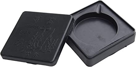 Writers Pens Inkwell for Calligraphy, Oblique Pens, Cartoon Drawing, Manga etc. Plastic with Lid