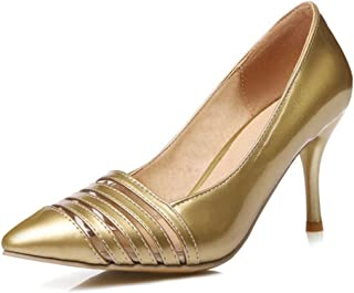 SJJH Stiletto Transparent Court Shoes with Thin Heel All Match Stripes Women Shoes