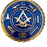 2' Masonic Coin For Freemasons Commemorative 3D Design With case