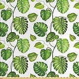 Lunarable Leaf Stoff von The Yard, tropischer Dschungel,