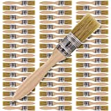 US Art Supply 72 Pack of 1 inch Paint and Chip Paint Brushes for Paint, Stains, Varnishes, Glues,...