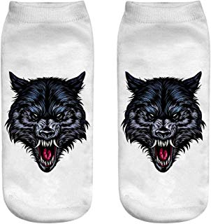 Now Fashion Women Socks Boat Low Cut Casual Thin No Show Cool Sock Animal Colorful by aihihe
