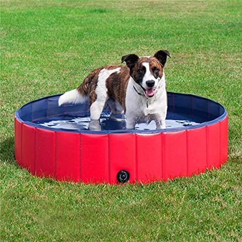 YSPS Piscina de Perro Plegable - Piscina de baño de Mascotas de plástico Duro, Piscina para niños portátiles para niños, bañera de baño Plegable Resistente a Resistencia, 80x20cm