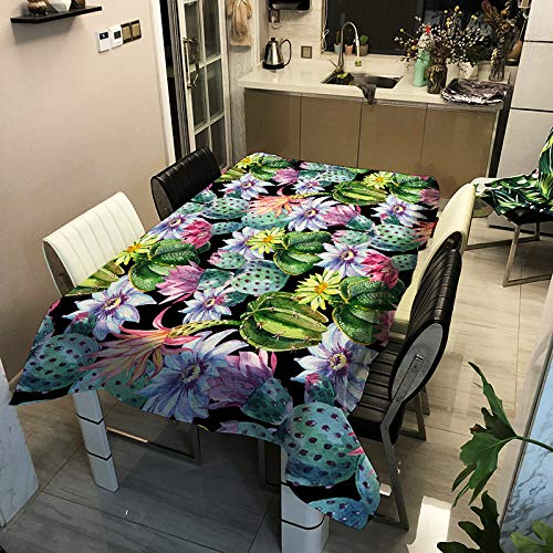Serie De Flores De Plantas Simples Modernas Mantel Impreso Poliéster para El Hogar Impermeable Y Resistente A Las Manchas Tapete De Mesa Rectangular Mantel para Mesa De Café