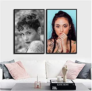 zxianc Kehlani Pop Music Singer Star Art Canvas Painting Poster Wall Home Decor Print on canvas-50x70cmx2pcs -No Frame