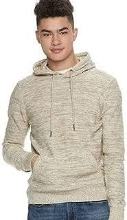Men's Marled Long Sleeve Crossover Hoodie Sweater