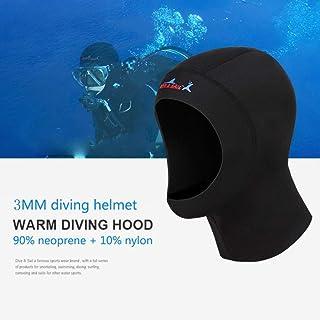 Unisexe Surf Cap Combinaisons pour Snorkeling plong/ée sous et oher Sports Nautiq Qkurt plong/ée Casquette 3mm n/éopr/ène sous-Marine Capuche avec /écoulement /évent pour /éliminer l/'air pi/ég/é
