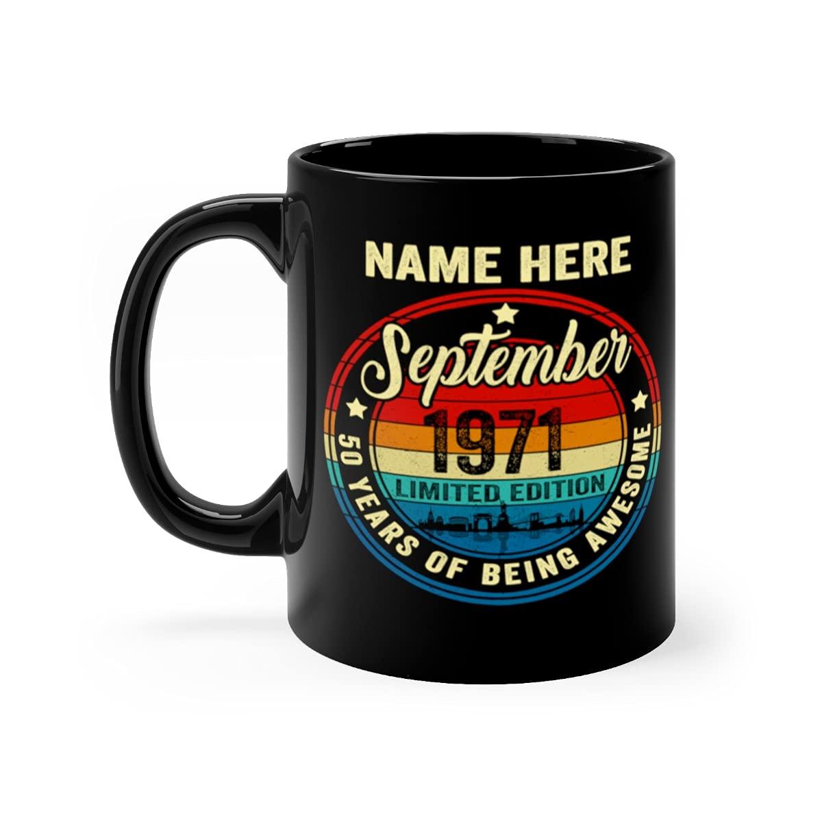 Custom Name Month Year 50th 19 Free Very popular! shipping on posting reviews September Mug Birthday Vintage