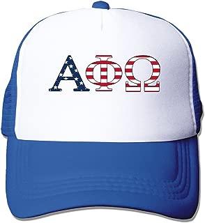 WZN American Flag Alpha Phi Omega Polyester Foam Caps With Black