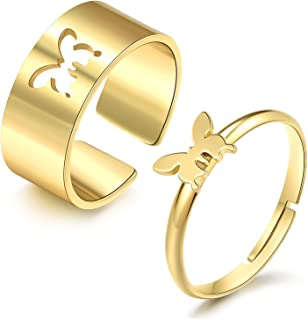 3PCS Hematite Rings for Women Black Hematite Stone Ring Absorbs Negative Energy Rings Size 6-10