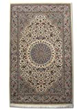 Alfombra tradicional persa hecha a mano, lana, crema, mediano, 138 x 224 cm, 4 pies...