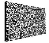 Keith Haring - Scimmia Puzzle - Stampa Su Tela Con Cornice - Varie Dimensioni (A0 129x83 cm)