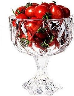 Achket 20.3 أوقية قدم من الزجاج الشفاف الحلوى السلطانيات/الكمال - مثالية للحلوى، Sundae، الآيس كريم، الفاكهة، سلطة، وجبة خ...