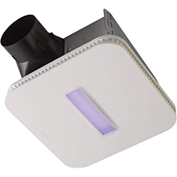 Broan-NuTone AR110LKVV SurfaceShield Vital Vio Powered Exhaust Vent LED White Light & Antibacterial Violet Light, 110 CFM Fan