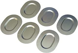 Floor Pan Drain Plugs Set 6pc Oval Galvanized Zinc Plated Plug Trunk