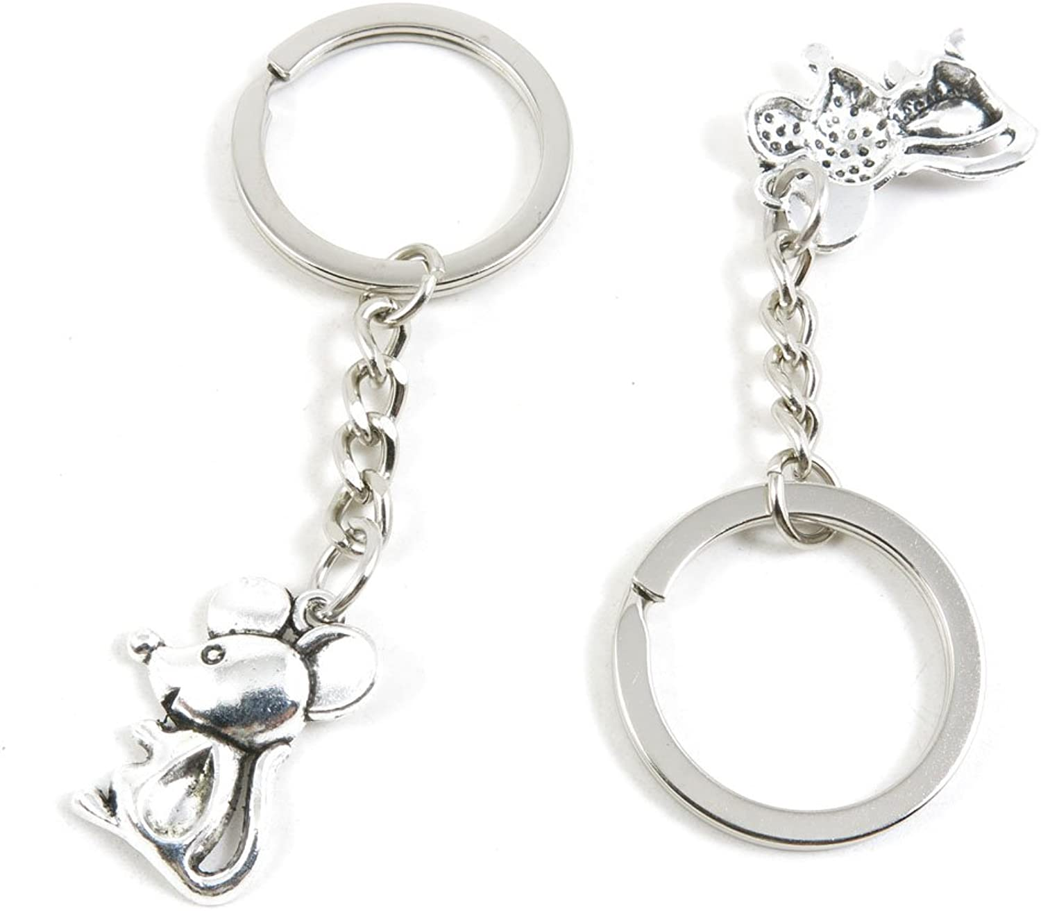 210 Pieces Fashion Jewelry Keyring Keychain Door Car Key Tag Ring Chain Supplier Supply Wholesale Bulk Lots P6MY8 Mouse Rat