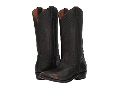 Frye Billy Stitch Pull-On (Black Full Grain Brush-Off) Women