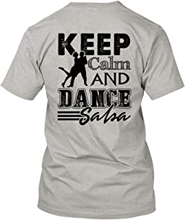 Keep Calm and Dance Salsa Unisex Cotton Short Sleeve Shirts