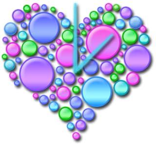 Heart Circles Clock