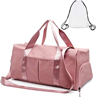 Gym Duffle Bag Dry Wet Separated Gym Bag Sport Duffle Bag, Pink, Size One_Size