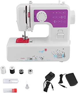 Portable Sewing Machine, Water-chestnut Automatic Heavy Duty Sewing Machine with 12 Kinds of Stitches and 4 Cloth Threading, Best Mini Sewing Machine for Beginners (White)