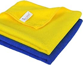SOBBY Microfiber Cloth for Car Cleaning Bike Cleaning Vehicle Washing cloths- 40cm x 40cm-Set of 2 (Assorted)