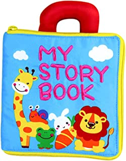 Beauenty Baby Soft Books Toddler Learning Sensory Story Book, Educational Toy for Boy & Girl, Soft Toys Feel Cloth Book, 3...