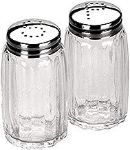 Ibili zout-/peperstrooierset klein, roestvrij staal, zilver/transparant, 9 x 8 x 4 cm, 2 stuks