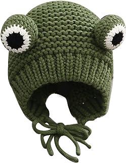 Berretto in lana con figura di rana, 48 – 50 cm, invernale, lavorato a maglia, con paraorecchie, Frog Figure Wools, cappel...