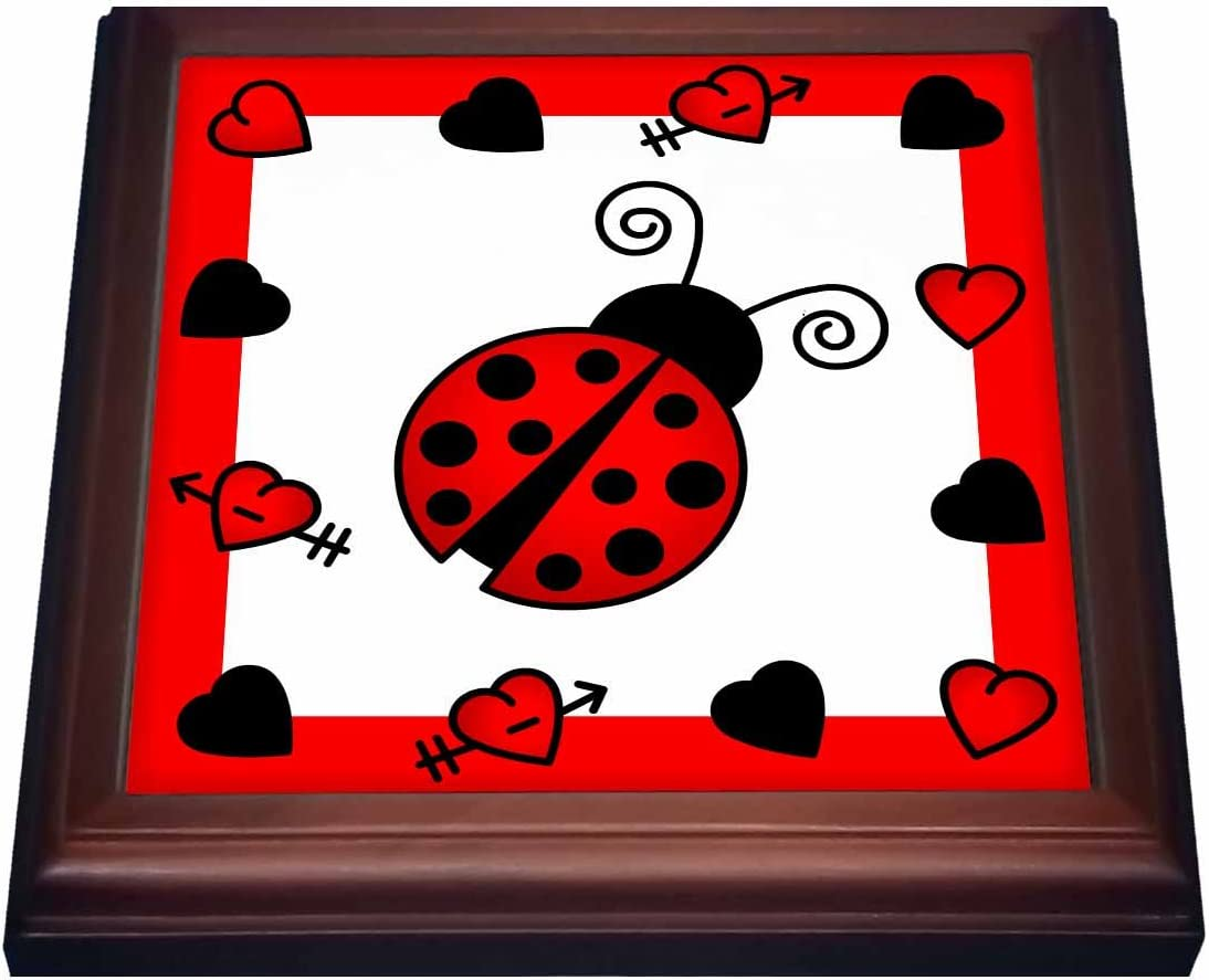Recommended 3dRose Love Bugs Red Ladybug Til Trivet Ranking TOP17 Hearts with Ceramic