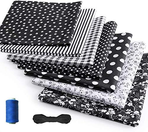 HIQE-FL 14 Stück Baumwollstoff meterware Stoffpaket,Patchwork Stoffpaket,Baumwollstoff Meterware für Nähen Stoffe Patchwork