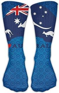 Daisylove, Love Australia - Calcetines deportivos largos para hombre y mujer, 30 cm