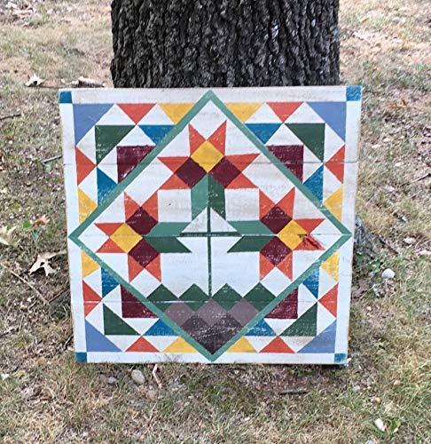 Not Branded Cartel cuadrado de 30 x 30 cm, diseño de granero, para decoración de otoño, diseño de flores de otoño, decoración para el hogar, decoración de pared con letrero 811863