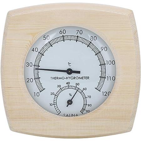 GAESHOW Thermo-hygromètre en Bois thermomètre hygromètre pour Salle de Bain Sauna Accessoire de Salle de Bain Hygromètre de Sauna