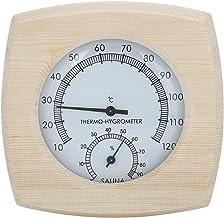 GAESHOW Thermo-hygromètre en Bois thermomètre hygromètre pour Salle de Bain Sauna Accessoire de Salle de Bain Hygromètre d...