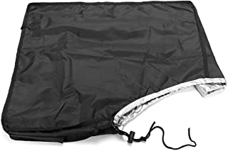 dDanke Black Boat Outboard Motor Hood Cover Waterproof Engine Cover Fit for 10HP Horse Power 19.68x11.42x17.72 Inch