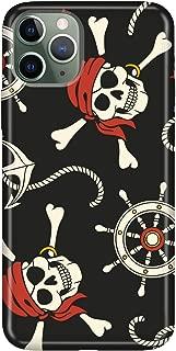 Cekuonline iPhone 11 Pro Max Kılıf Desenli Esnek Silikon Telefon Kabı Kapak - İskelet Kaptan