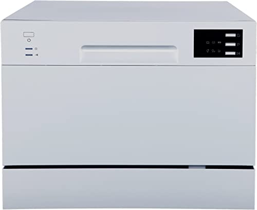 SPT SD-2225DS Compact Countertop Dishwasher/Delay Start-Energy Star Portable Dishwasher with Stainless Steel Interior...
