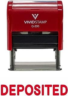 DEPOSITED Self Inking Rubber Stamp (Red Ink) Medium